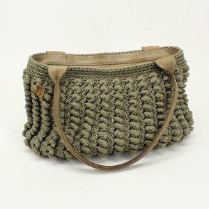 Atelier Avanzar Tan Knot Woven Design Purse